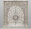 A carpet, nain part silk sk 9laa,   342 x 255 cm.