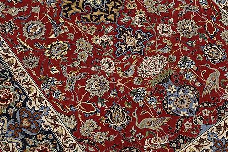 A rug, figural esfahan, ca 172 x 110 cm.
