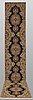 A runner, tabriz part silk so called 50 radj, ca 514 x 91 cm.