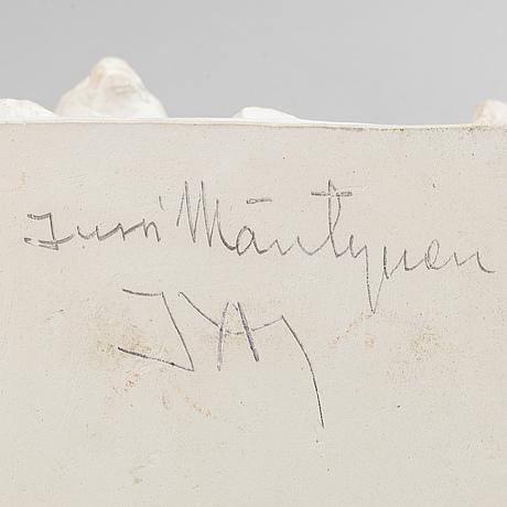 Jussi mäntynen, skulptur, gips, signerad och daterad 50.