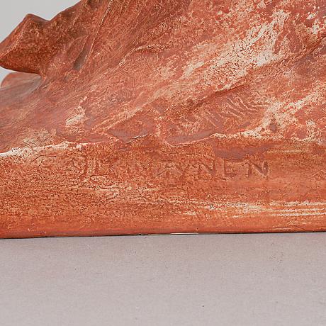 Jussi mäntynen, a plaster sculpture, signed.