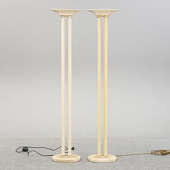 A pair of floor lamps from Le Dauphin, France, second half of the 20th century.