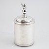 An alpacca jar, swedish modern, from cg hallberg, first half of the 20th century.