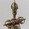 A bronze ganta and vajra, tibet, 20th century.