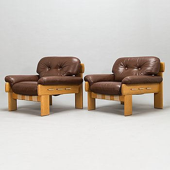 Esko Pajamies, a pair of 1970's 'Africa' armchairs for Asko Finland.