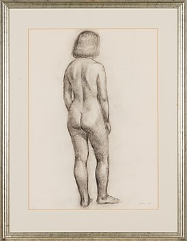 Unto Pusa, pencil drawing, signed and dated -50.