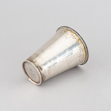 A parcel-gilt silver beaker, probably mark of hans wiggman, kalmar 1753.