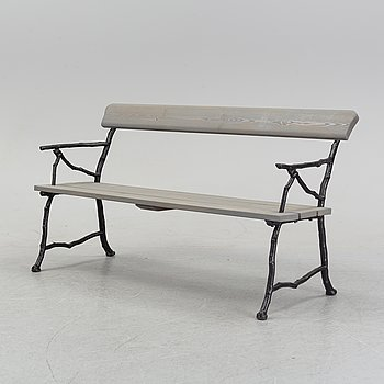 A cast iron garden sofa from Bolinders, Stockholm, early 20th Century.