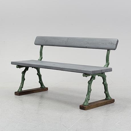 An cast iron garden sofa, 20th century.