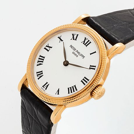 "Patek philippe, calatrava, ""clous de paris"", wristwatch, 25 mm."