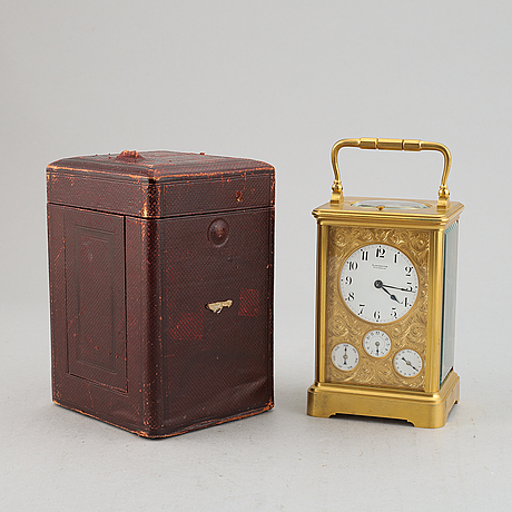 A linderoth carriage clock, stockholm, early 20th century.