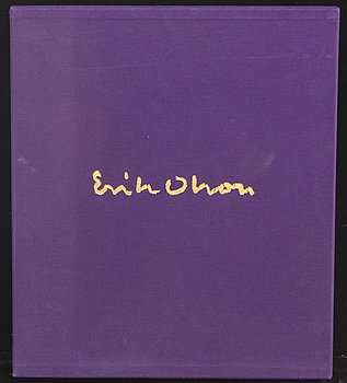 ERIK OLSON, a folder with three colour lithographs, a book and a catalogue, signed  and numbered 15/300 1977.