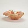 Bowl, seashell, glass, probably murano, mid-20th century.