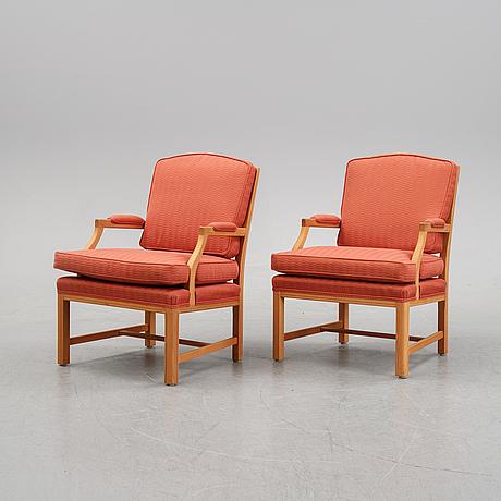 Karmstolar ett par, gripsholmsmodell, jio möbler, 2000-tal.
