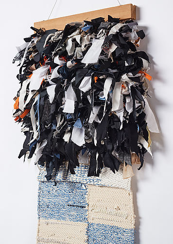 Linnéa sjöberg, fabric, wood, buttons, signed and dated 2015.
