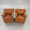 Lauriana afra & tobia scarpa, armchairs for a couple of b&b italia 1970s / 80s.