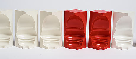 Sivert lindblom, object, 12 parts, stamped and dated february 1968.