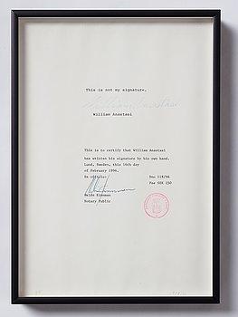 William Anastasi, edition 3/8. Signea and dated 1978/96.