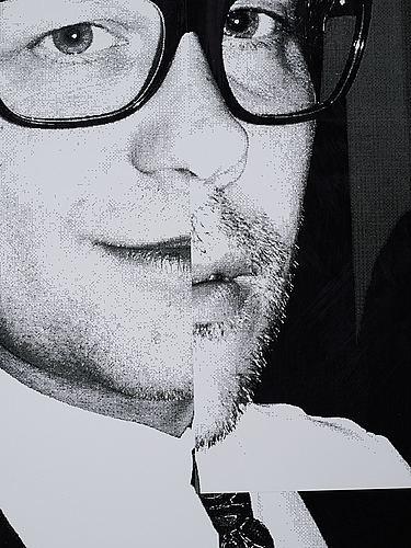 Dennis loesch, screentryck på pannå, unik. signerad och daterad 2005 a tergo.