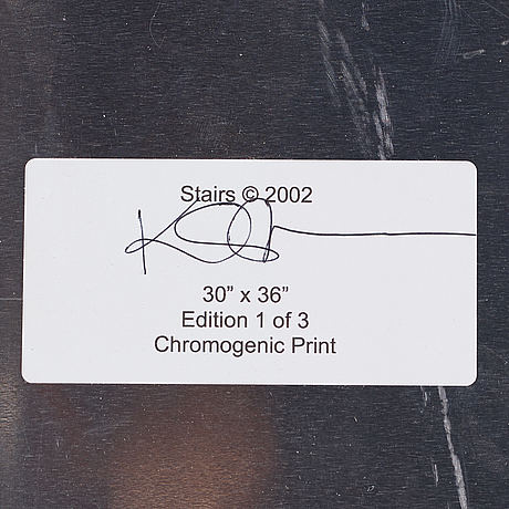 Kerry skarbakka, photography, signed and dated 2002 on label verso.