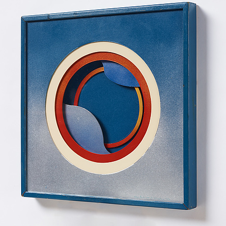 Beck & jung, mixed media on mdf, signed and dated 1972.