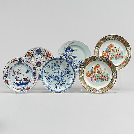Six odd dishes, qing dynasty, 18th-19th century.