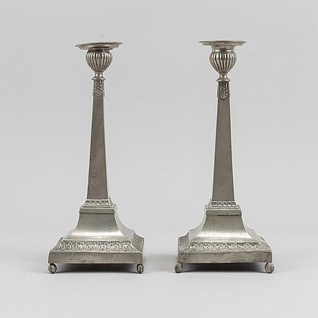 Petter höijer, ljusstakar, ett par, 1800-talets början.