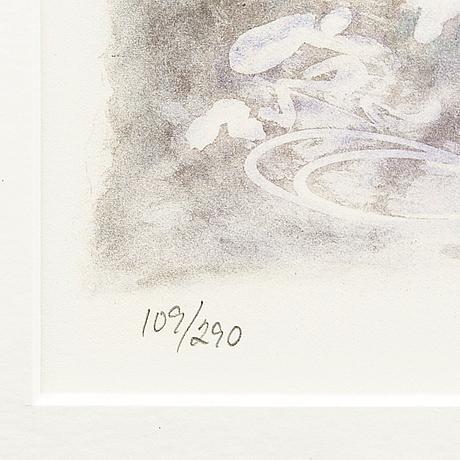 Lillan michelin, färglitografi, signerad, numrerad 109/290.