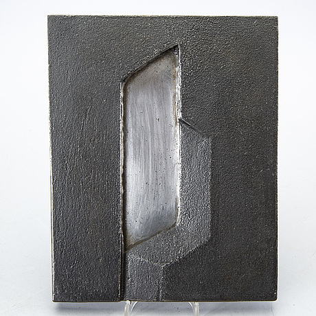 Sivert lindblom, relief, sculpture, signed, dated.
