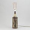 Axel salto, a stoneware table lamp, royal copenhagen, denmark, signed salto.