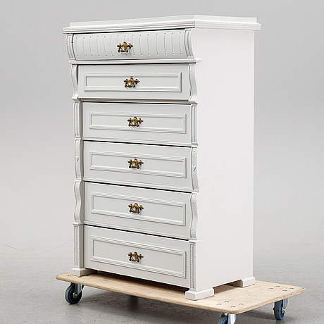 A painted dresser, early 20th century.