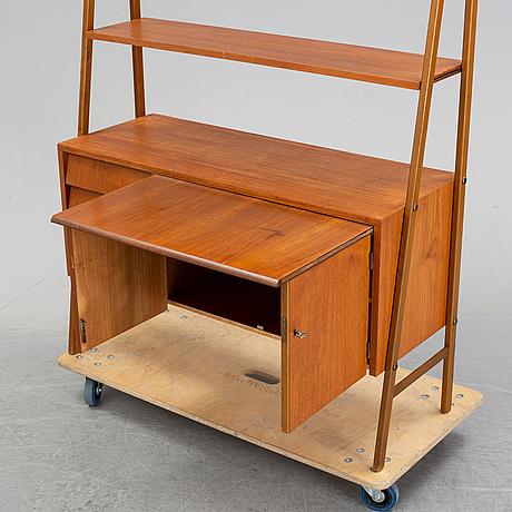 A teak bookshelf, second half of the 20th century.