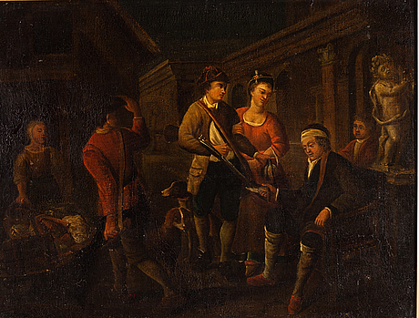 Pehr hilleström, in the manner of, oil on canvas.