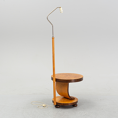A golv lamp with table, 1930's-40's.
