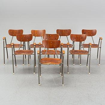 Eight armchairs, mid 20th century.