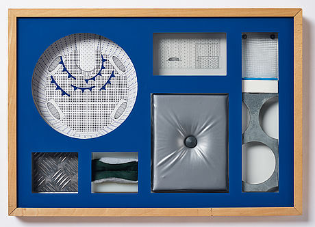 Bigert & bergström, mixed media on glass and panel, edition 2/6. executed in 1994. signed with stamp.
