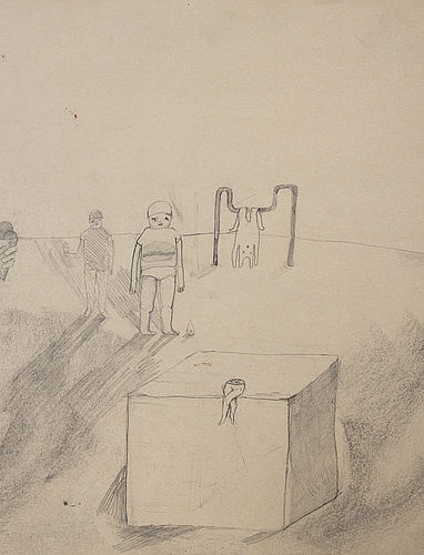 Iris smeds, pencil and chalk on paper, signed and dated 2007.