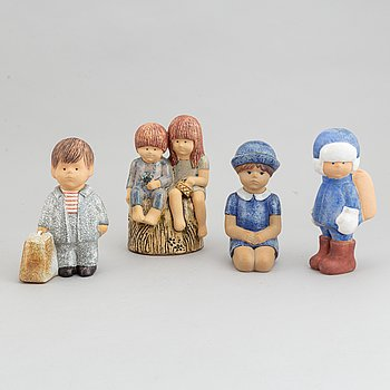 Lisa Larson, four stoneware figurines, for K-Studion, Gustavsberg.