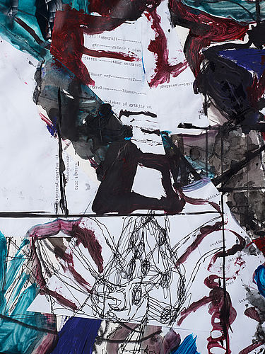 Carl michael lundberg, mixed media on paper, signed and dated 2009-2010.