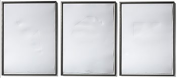 Carsten Nicolai, 3 litographs, edition of 20, signed and numbered. 2008.