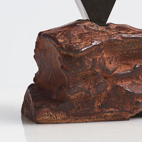 Sivert lindblom, bronze, signed sl, numbered 10x, dated -86.