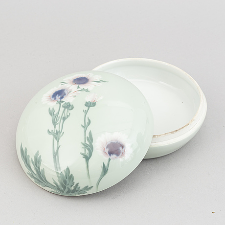 Rörstrand, three porcelain art nouveau pieces, sweden early 20th century.