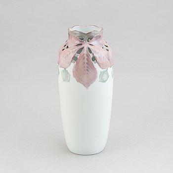 Nils Emil Lundström and Ruben Rising, an Art Nouveau porcelain vase, Rörstrand, Sweden, early 20th Century.