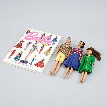 Barbie dolls, 1960s, and accessories.