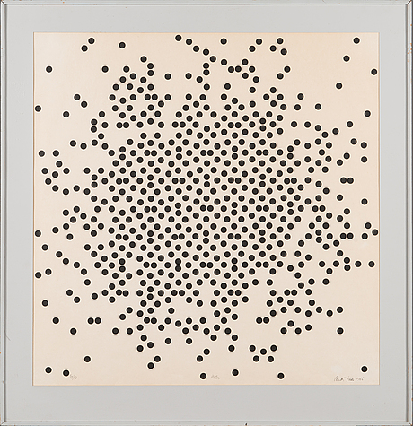 Pentti tulla, silkscreen, signed and dated -86, numbered 30/50.