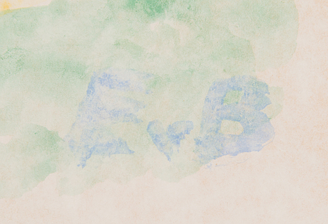 Eero von boehm, akvarelli, signeerattu.