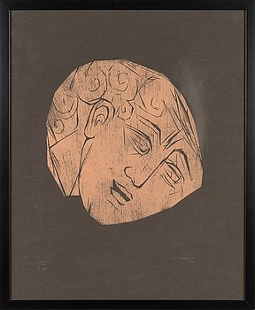 Ina Colliander, woodcut, signed and dated -64, numbered tpl'a 3-10 II 2/10.