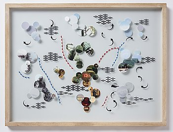 Bigert & Bergström, photography and collage on glass, unique, 2010.