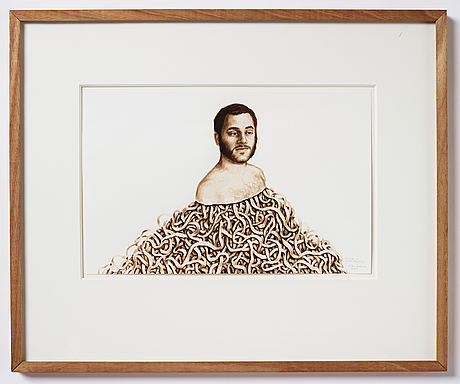 Willem andersson, oil on paper, signed and dated 2009.