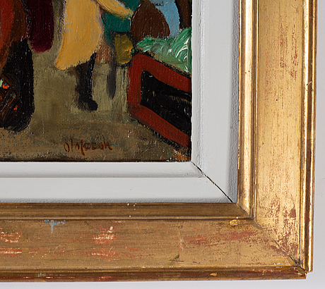 Pierre olofsson, oil on canvas signed.
